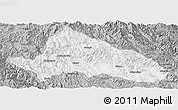 Gray Panoramic Map of Simao