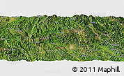 Satellite Panoramic Map of Simao
