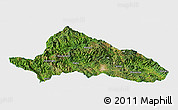 Satellite Panoramic Map of Simao, single color outside