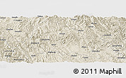 Shaded Relief Panoramic Map of Simao