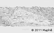 Silver Style Panoramic Map of Simao