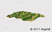Satellite Panoramic Map of Songming, cropped outside