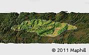 Satellite Panoramic Map of Songming, darken
