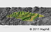 Satellite Panoramic Map of Songming, desaturated