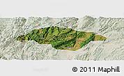 Satellite Panoramic Map of Songming, lighten
