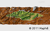 Satellite Panoramic Map of Songming, physical outside