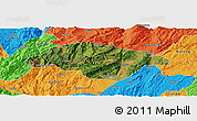 Satellite Panoramic Map of Songming, political outside