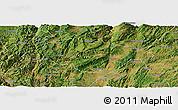 Satellite Panoramic Map of Songming
