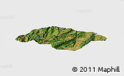 Satellite Panoramic Map of Songming, single color outside