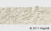Shaded Relief Panoramic Map of Songming