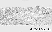 Silver Style Panoramic Map of Songming