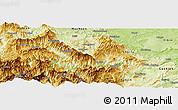 Physical Panoramic Map of Suijiang