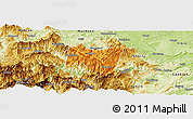 Political Panoramic Map of Suijiang, physical outside