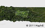 Satellite Panoramic Map of Suijiang, darken