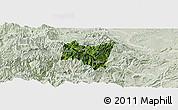 Satellite Panoramic Map of Suijiang, lighten