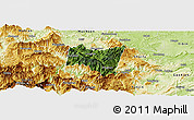 Satellite Panoramic Map of Suijiang, physical outside