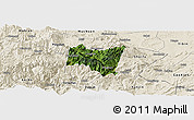 Satellite Panoramic Map of Suijiang, shaded relief outside