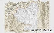 Classic Style Panoramic Map of Tengchong