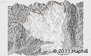 Gray Panoramic Map of Tengchong