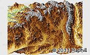 Physical Panoramic Map of Tengchong