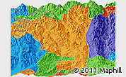 Political Panoramic Map of Tengchong