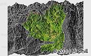 Satellite Panoramic Map of Tengchong, desaturated