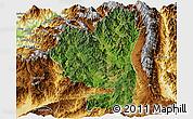 Satellite Panoramic Map of Tengchong, physical outside