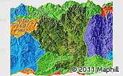 Satellite Panoramic Map of Tengchong, political outside