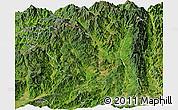 Satellite Panoramic Map of Tengchong