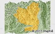 Savanna Style Panoramic Map of Tengchong