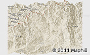 Shaded Relief Panoramic Map of Tengchong