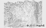 Silver Style Panoramic Map of Tengchong