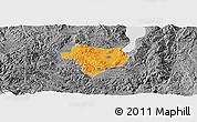 Political Panoramic Map of Tonghai, desaturated