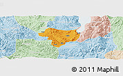 Political Panoramic Map of Tonghai, lighten
