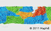 Political Panoramic Map of Tonghai