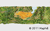 Political Panoramic Map of Tonghai, satellite outside