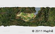 Satellite Panoramic Map of Tonghai, darken