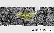 Satellite Panoramic Map of Tonghai, desaturated