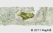 Satellite Panoramic Map of Tonghai, lighten