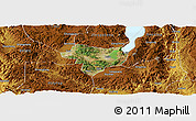 Satellite Panoramic Map of Tonghai, physical outside