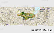 Satellite Panoramic Map of Tonghai, shaded relief outside