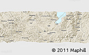 Shaded Relief Panoramic Map of Tonghai