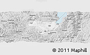 Silver Style Panoramic Map of Tonghai