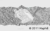 Gray Panoramic Map of Weishan