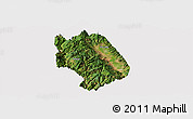 Satellite Panoramic Map of Weishan, cropped outside