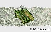 Satellite Panoramic Map of Weishan, lighten
