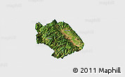 Satellite Panoramic Map of Weishan, single color outside