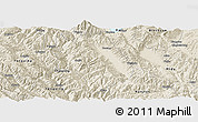 Shaded Relief Panoramic Map of Weishan