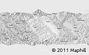 Silver Style Panoramic Map of Weishan
