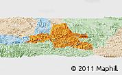 Political Panoramic Map of Weixi, lighten